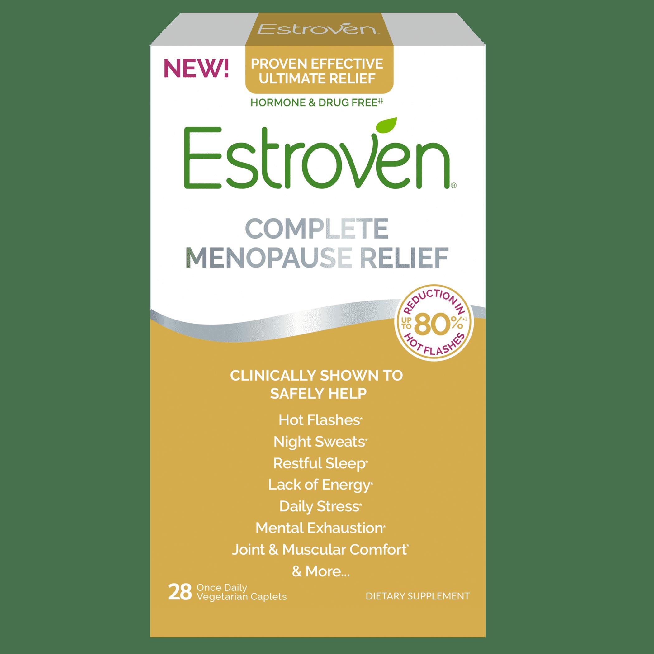 Estroven Complete Menopause Relief Hormone Drug Free 28 Ct Walmart Com Walmart Com