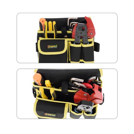 Professional Canvas 14 Tool Pockets, Fully Adjustable Waterproof Work Belt - image 2 of 4
