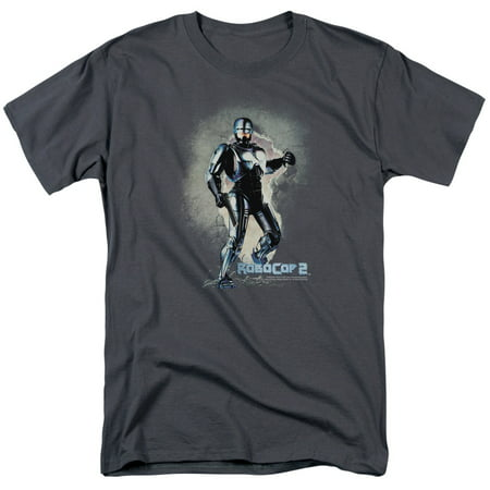MGM/ROBOCOP/BREAK ON THROUGH - S/S ADULT 18/1 - CHARCOAL - LG