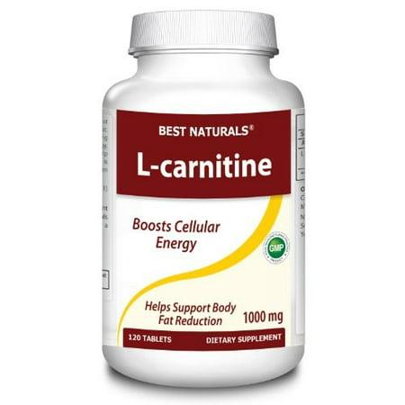 Best Naturals L-Carnitine 1000 mg, 120 Ct