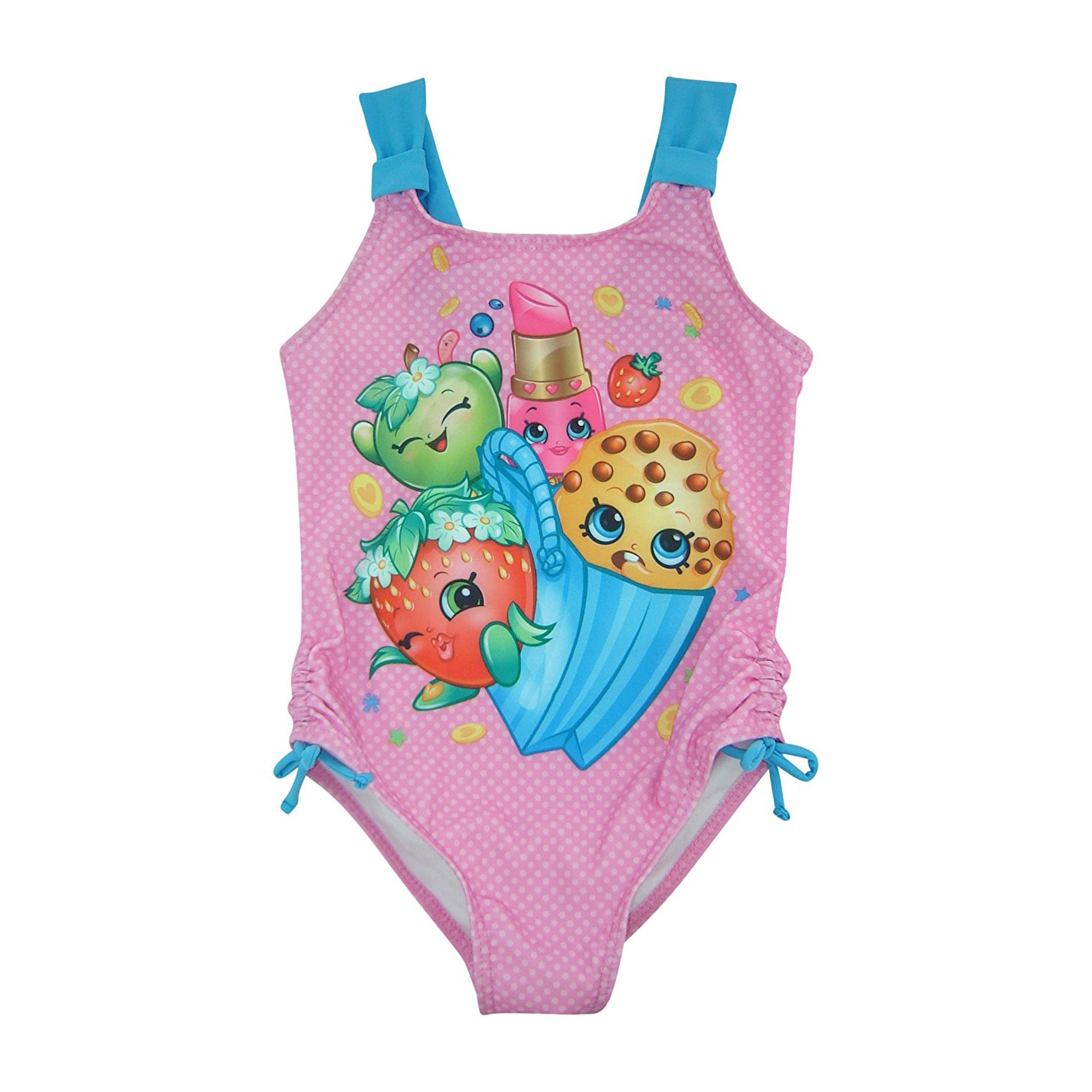 f5b74ee359981 Shopkins Girls One-Piece Pink UVB 50+ Swimsuit | Walmart Canada