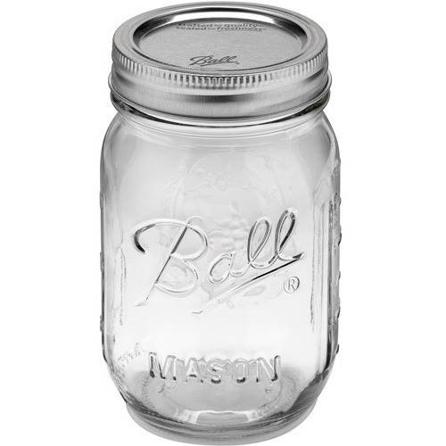 Ball 12-Count Regular Mouth Pint Jars with Lids and Bands