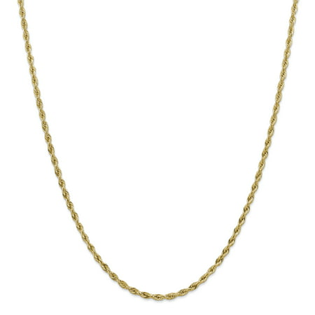 14k Yellow Gold 3mm Link Rope Chain Necklace 20 Inch Pendant Charm Regular Gifts For Women For Her