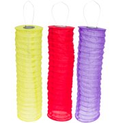 GREENLIGHTING NEW Multi-Colored Solar LED Hanging Cylinder Lanterns 3 Piece Set