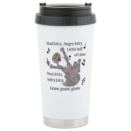 CafePress - Mad Kitty Angry Kitty Travel Mug - Stainless Steel Travel Mug, Insulated 16 oz. Coffee (Mad Kitty)