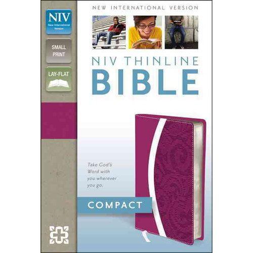 Holy Bible: New International Version, Razzleberry / Plum, Italian Duo-Tone, Thinline Bible