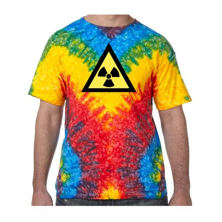 Radioactive Triangle Symbol Tie Dye Tee Shirt - Woodstock, Small Kids (Radioactive Dye)