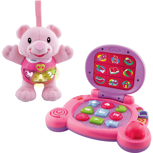 VTech - Happy Lights Bear and Baby's Learning Laptop Gift Set