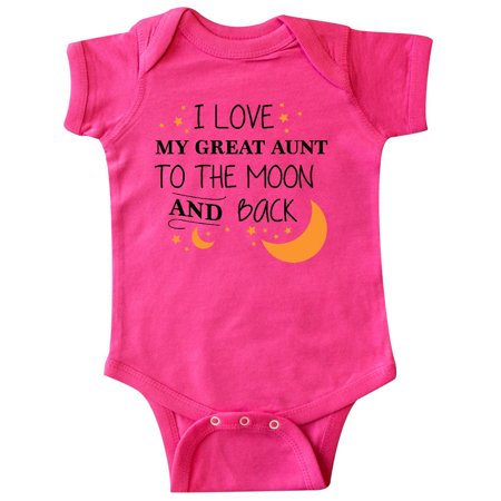 6b0188049 Inktastic - I Love My Great Aunt To The Moon and Back Infant Creeper -  Walmart.com