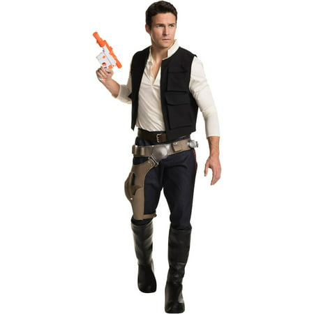 Hans Solo Costumes (Star Wars: Han Solo Grand Heritage Men's Adult Halloween Costume, One)