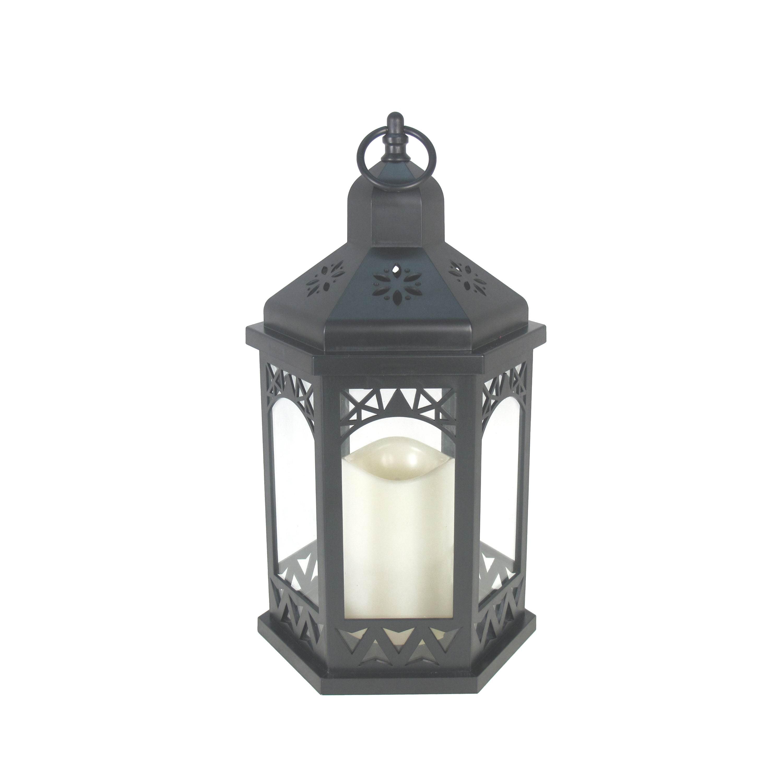 Mainstays Black LED Hexagon Lantern - Walmart.com