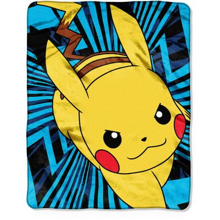 pokemon zip pika 40 x 50 silk touch throw walmart com