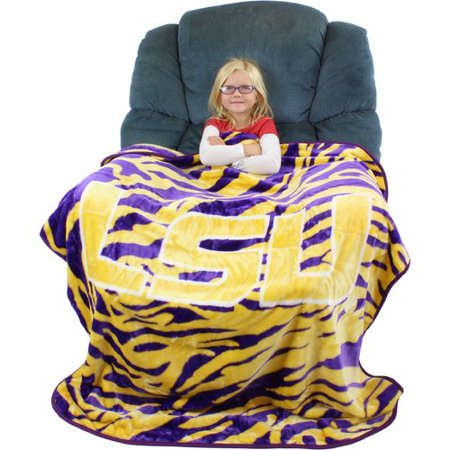 (College Covers Louisiana State University Tigers Throw Blanket)