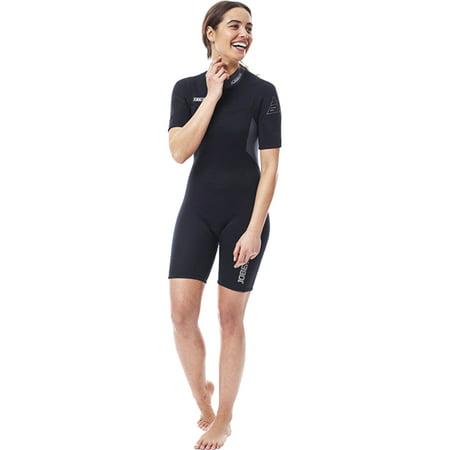 Black Spring Wetsuit (Jobe Atlanta 2mm Women's Black Shorty)