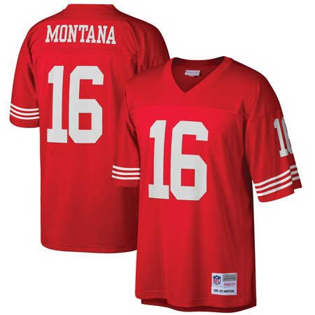 Mens Mitchell & Ness Joe Montana Scarlet San Francisco 49ers Retired Player Vintage Replica Jersey