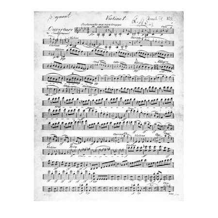 Sheet Music for the Overture to 'Egmont' by Ludwig Van Beethoven, Written Between 1809-10 (Print) Print Wall Art By German ()