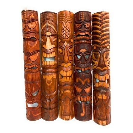 Set of 5 Tiki Masks 40