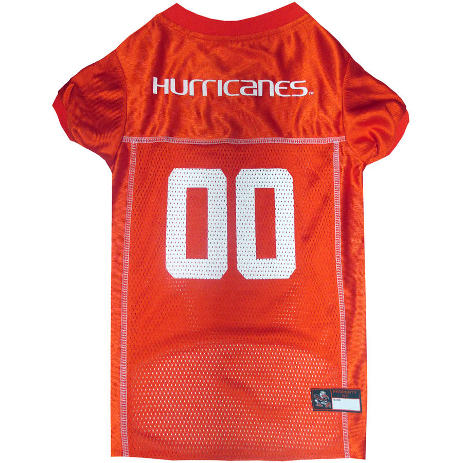 Pets First College Miami Hurricanes Collegiate Dog Jersey, Available in Various Sizes