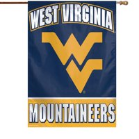 "West Virginia Mountaineers WinCraft 28"" x 40"" Full Name Single-Sided Vertical Banner"