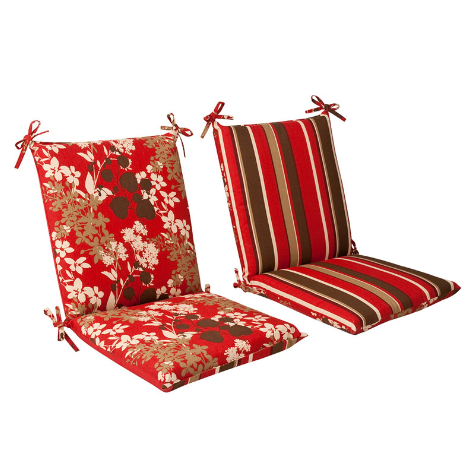 Ordinaire Pillow Perfect Reversible Outdoor Chair Cushion   Squared 36.5 X 18 X 3 In.