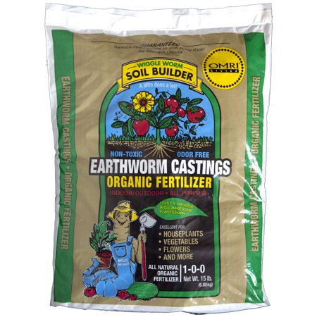 Unco Industries Wiggle Worm Soil Builder Earthworm Castings Organic Fertilizer  15 Pounds