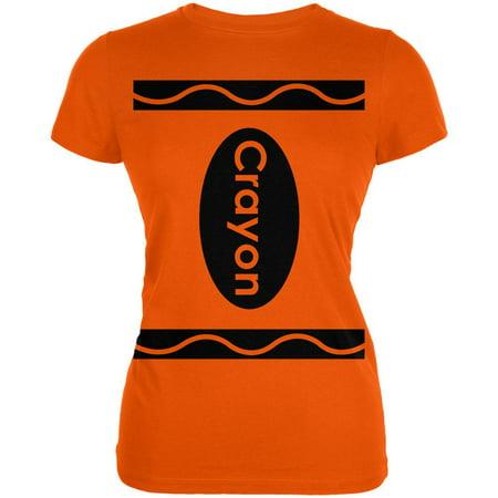 Crayon Costume Orange Juniors Soft T-Shirt