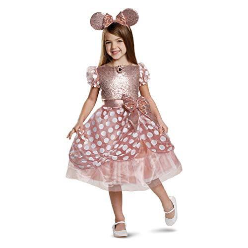 Disney Disney Toddler Girls Classic Minnie Mouse Dress Rose Gold