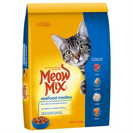 Meow Mix Seafood Medley Dry Cat Food, 14.2 lb - Halloween Cat Meow Sound