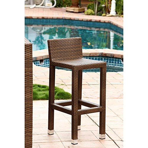 Palermo Outdoor Brown Wicker Counter Stool Walmart Com