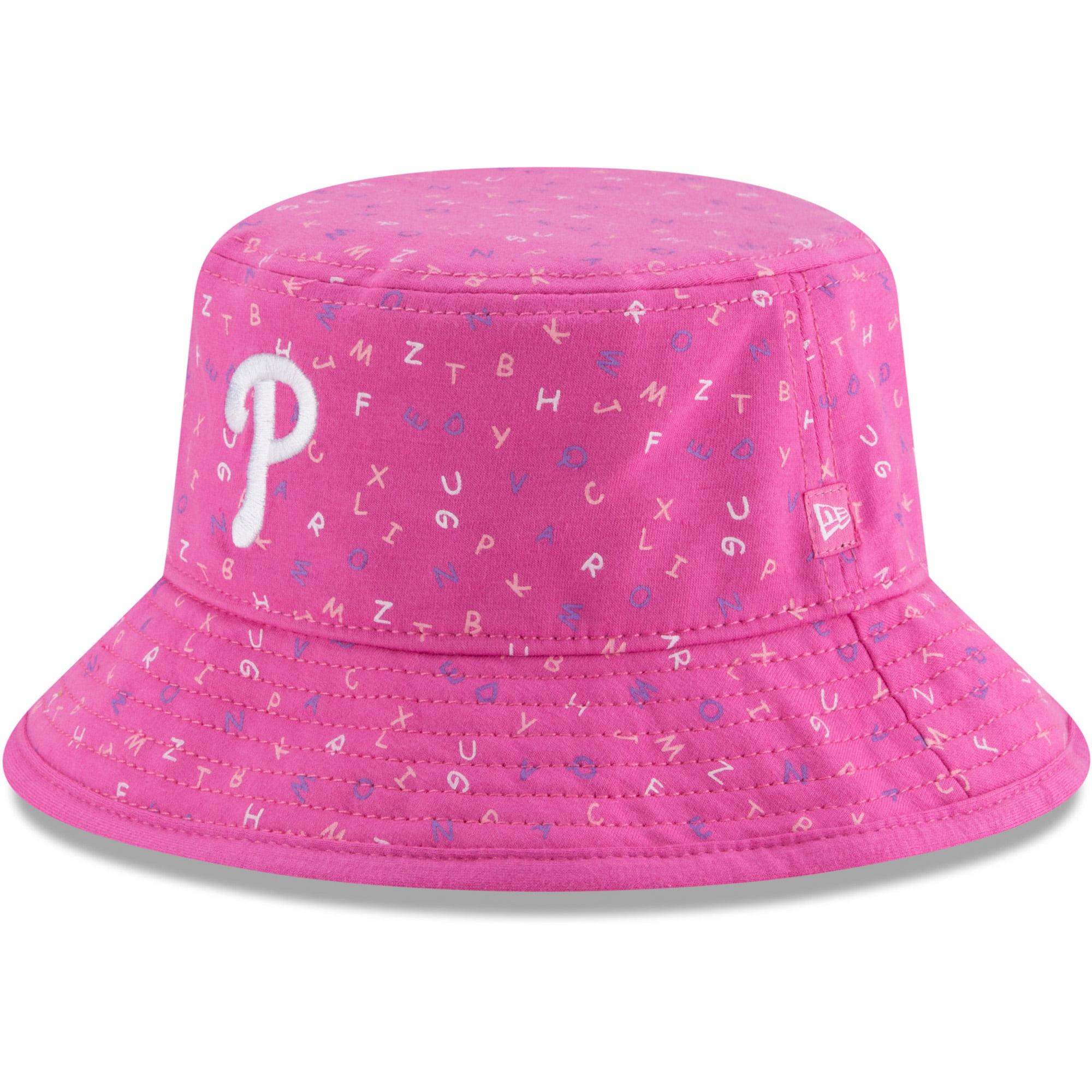 Philadelphia Phillies New Era Infant Alphabet Bucket Hat - Pink - OSFA