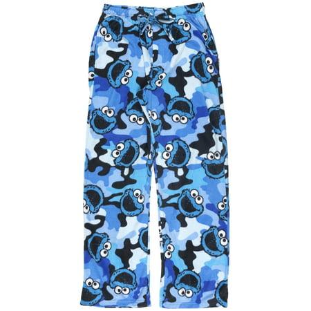 837b1a5f58939 Sesame Street - Sesame Street Cookie Monster Pajama Pants Camo Mens Sleepwear  Size Small - Walmart.com