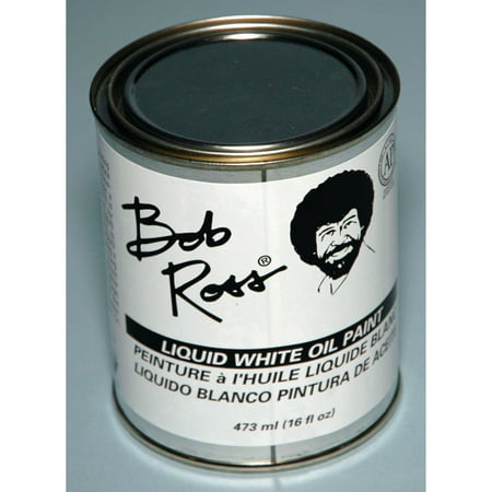 Bob Ross Liquid Base Coat, White, 16 - Buy Bob Ross Painting Original