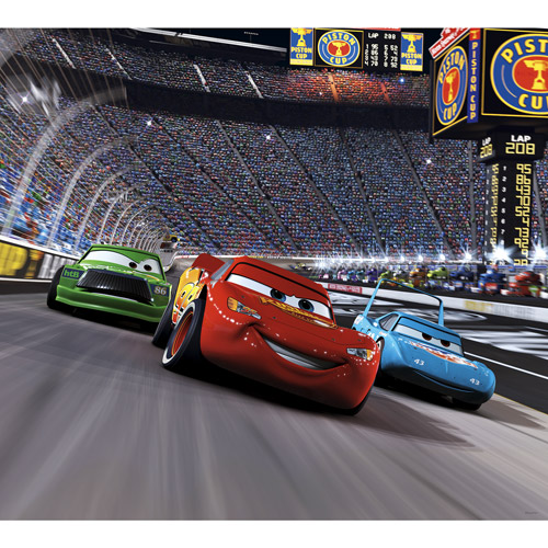 Disney Cars Race Track Mini Wall Mural