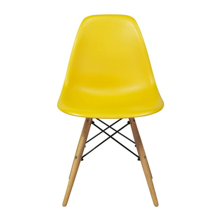 Eames Eiffel Dsw Style Side Dining Chair   Yellow