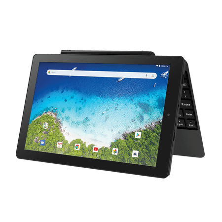 "RCA Viking Pro 10.1"" Android 2-in-1 Tablet 32GB Quad Core, Charcoal"