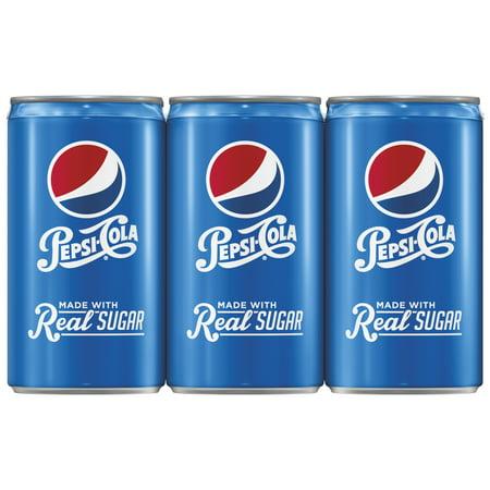 Pepsi with Real Sugar Soda, 7.5 Fl. Oz., 6 Count (Pepsi E Coca Cola Halloween)