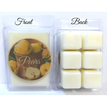Almond Pear Tart - Pears 3.2 Ounce Pack of Soy Wax Tarts - Scent Brick, Wickless Candle