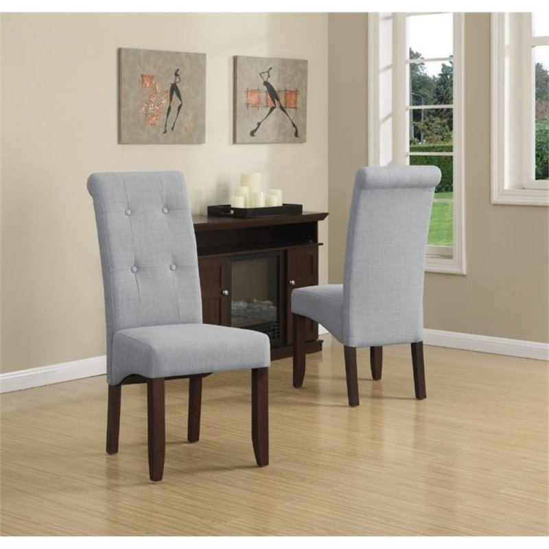 Atlin Designs Deluxe Dining Chair in Dove Gray (Set of 2)