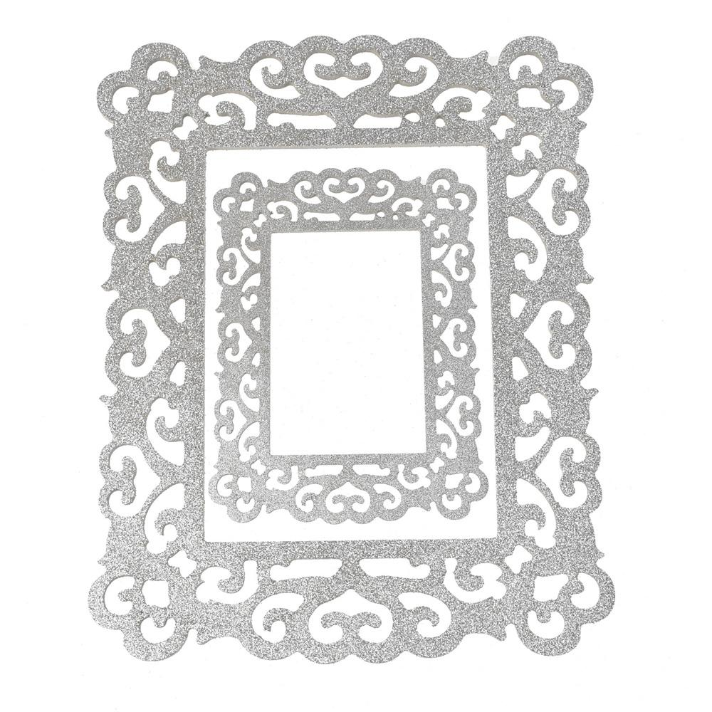 Foldable Wooden picture frame 2-piece White