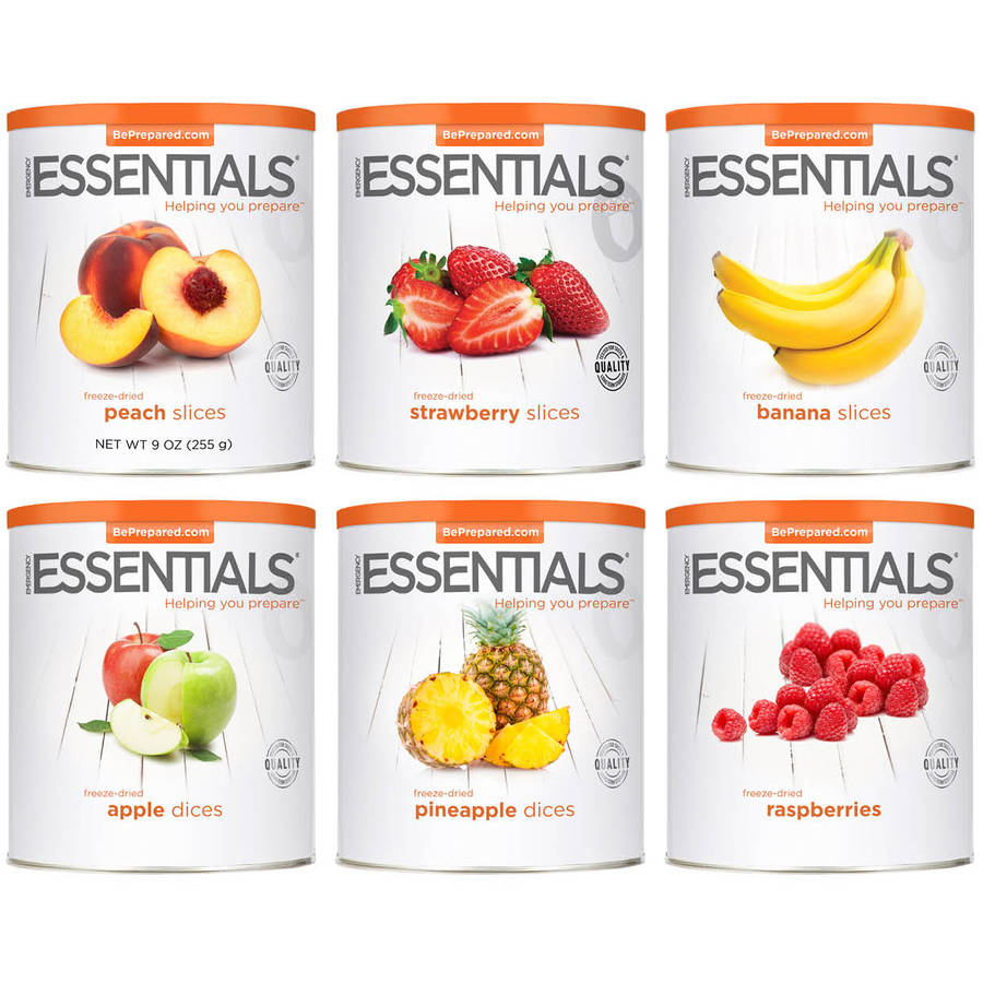 Emergency Essentials Freeze-Dried Fruit Favorites Combo, 6 count