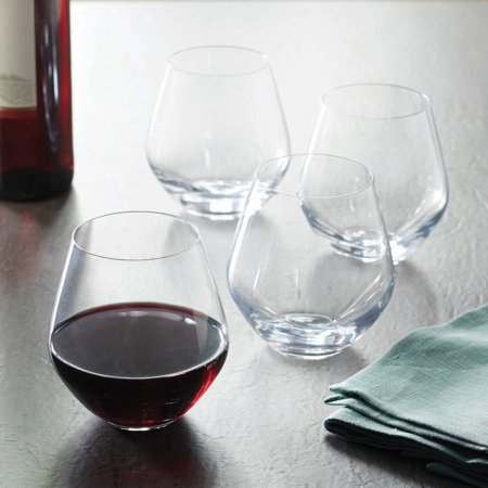 Better Homes & Gardens Cielo Stemless Red Wine Glasses, 17.5 Ounces, Set of 4 - Halloween Decorated Wine Glasses