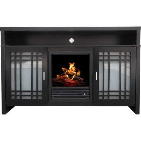 D;cor Flame Chateau 54″ Media Fireplace, for TVs up to 60″, Cappuccino