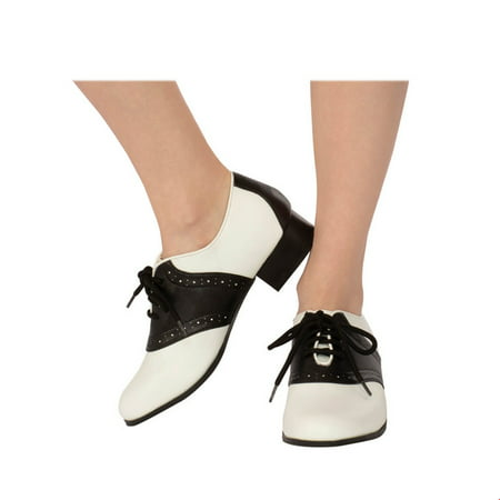 Adult Women's Saddle Shoe Halloween Costume Accessory (Pointe Shoes Halloween Costume)