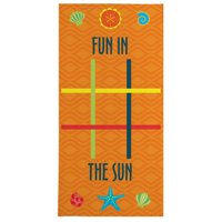 Personalized Tic Tac Toe Beach Towel - Available in 3 Colors
