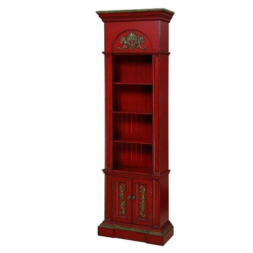 Gail's Accents Rouge Distressed Narrow Bookcase