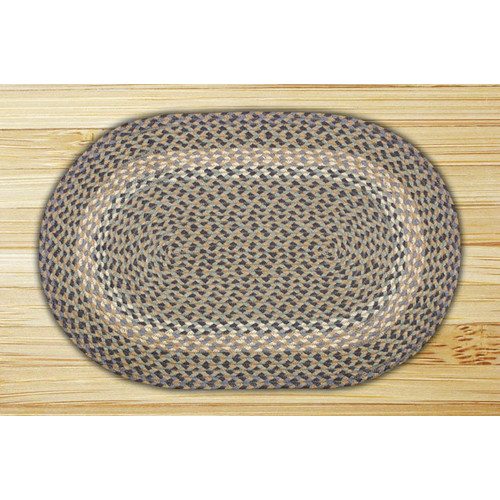 "Earth Rugs C-05 Blue/Natural Oval Braided Rug 20""x30"""