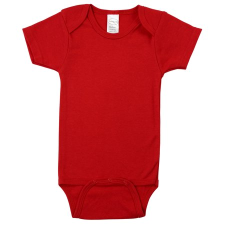 Red Interlock Short Sleeve Bodysuit Onezie](Inflatable Onesie)