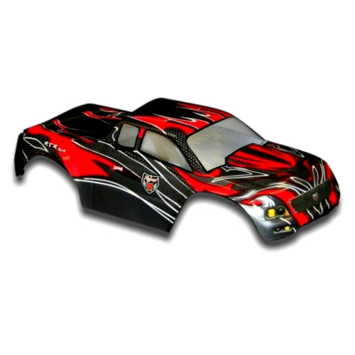 Redcat Racing Part 88030 RC Truck Body 1/10 Volcano Red and Black with Decal Sheet