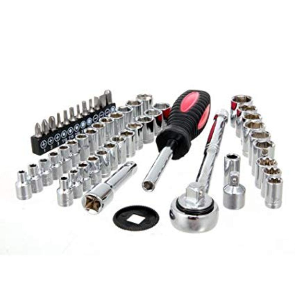 Dr. Socket Set, 54 count, Meets ANSI standards for hardness & torque By Hyper Tough