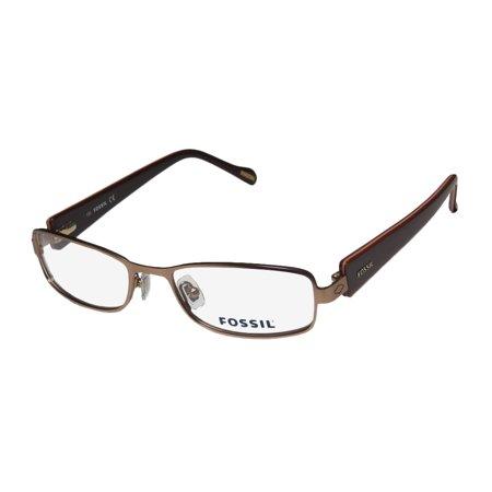 New Fossil Cassandra Mens/Womens Designer Full-Rim Brown Brand Name Classic Design Eyewear Frame Demo Lenses 51-17-135 Flexible Hinges (Cool Eyewear Brands)